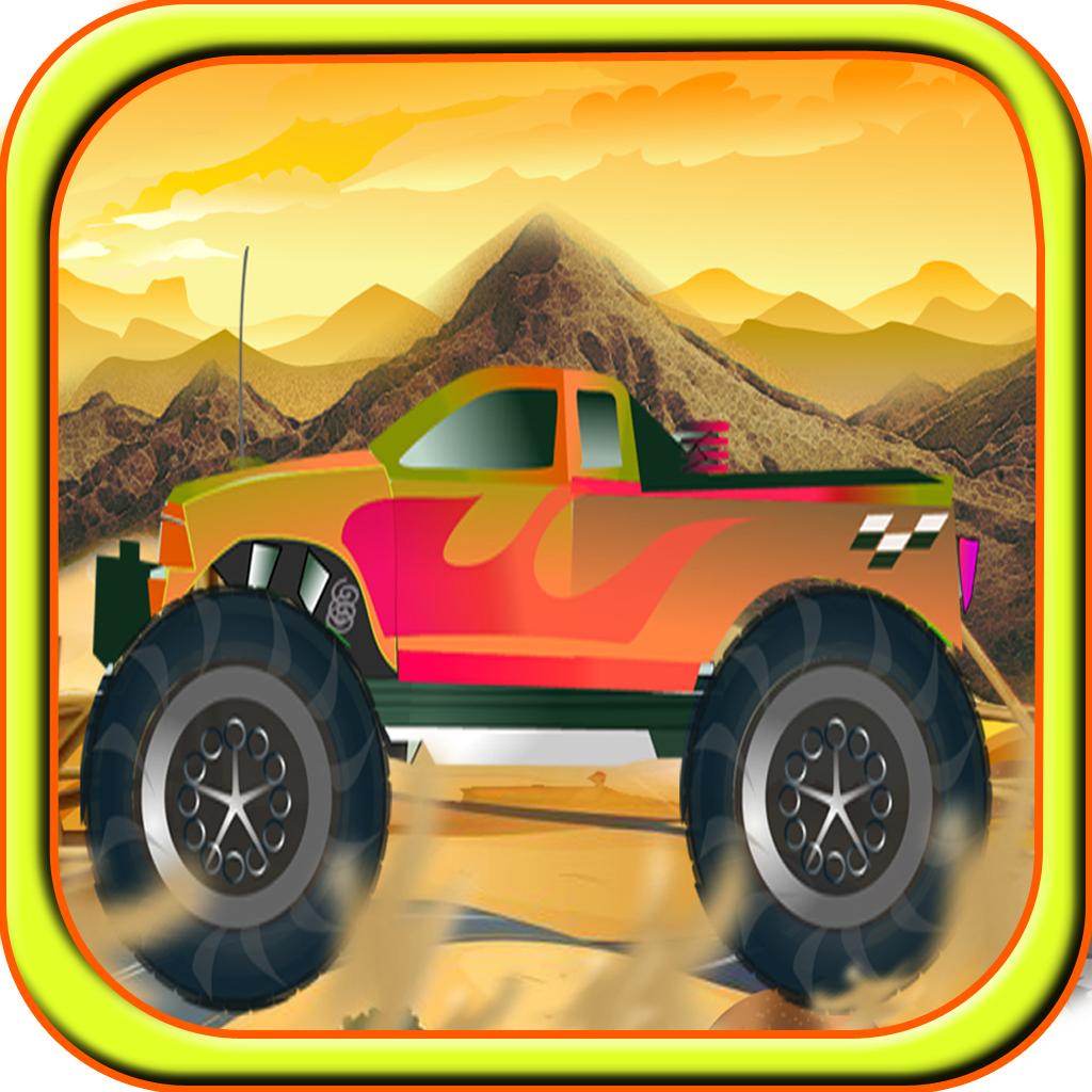 A Monster Car Death Valley Run - Free 4x4 Truck Racing Game